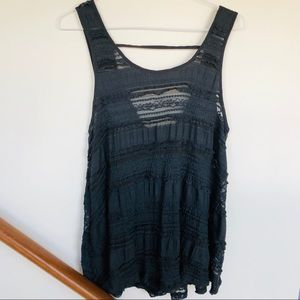 urban outfitters gray lace cover up dress